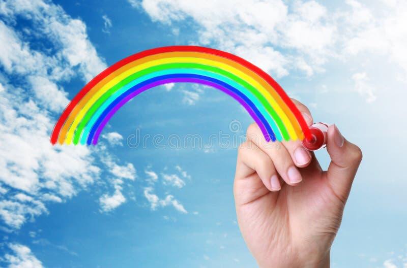 Regenboog in de hemel royalty-vrije stock foto's