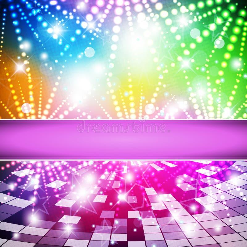 Regenboog-disco stock illustratie