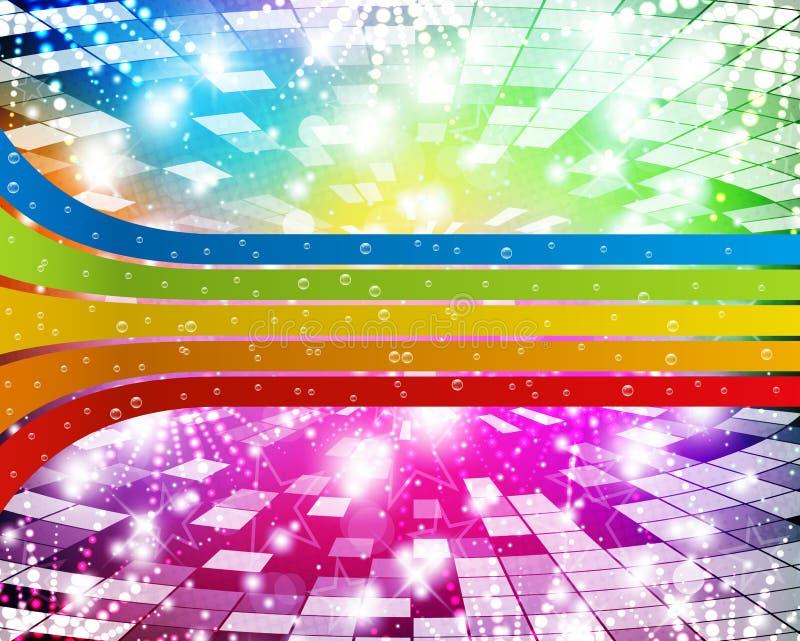 Regenboog-disco royalty-vrije illustratie