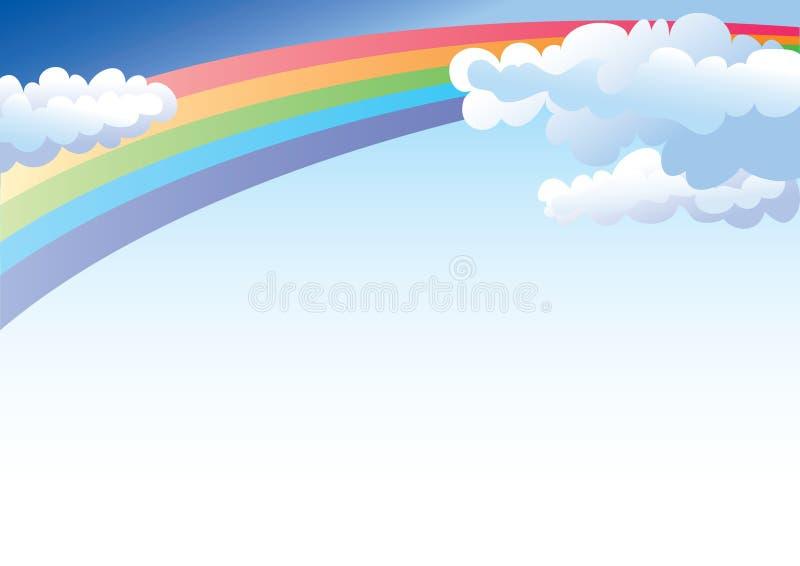Regenboog en hemel royalty-vrije illustratie