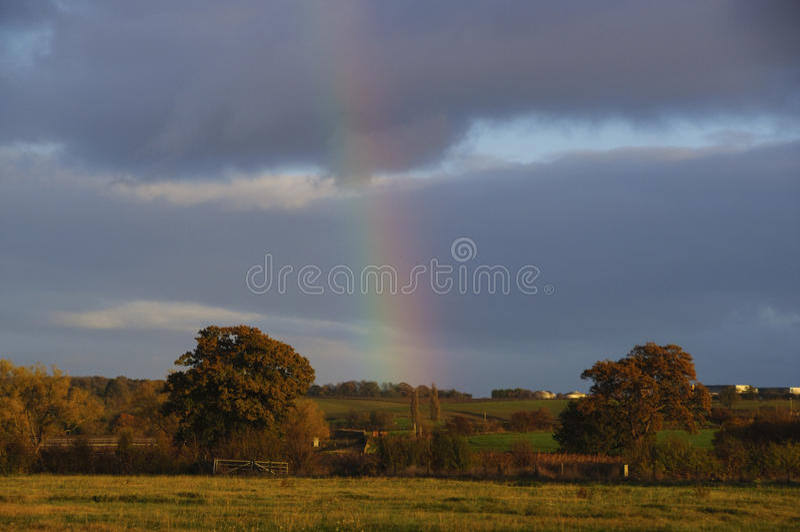 Regenboog Engeland het UK royalty-vrije stock afbeelding
