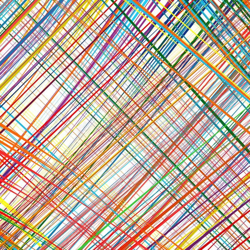 Regenboog gebogen de kunst vectorachtergrond van de strepenrassenbarrière royalty-vrije stock foto's