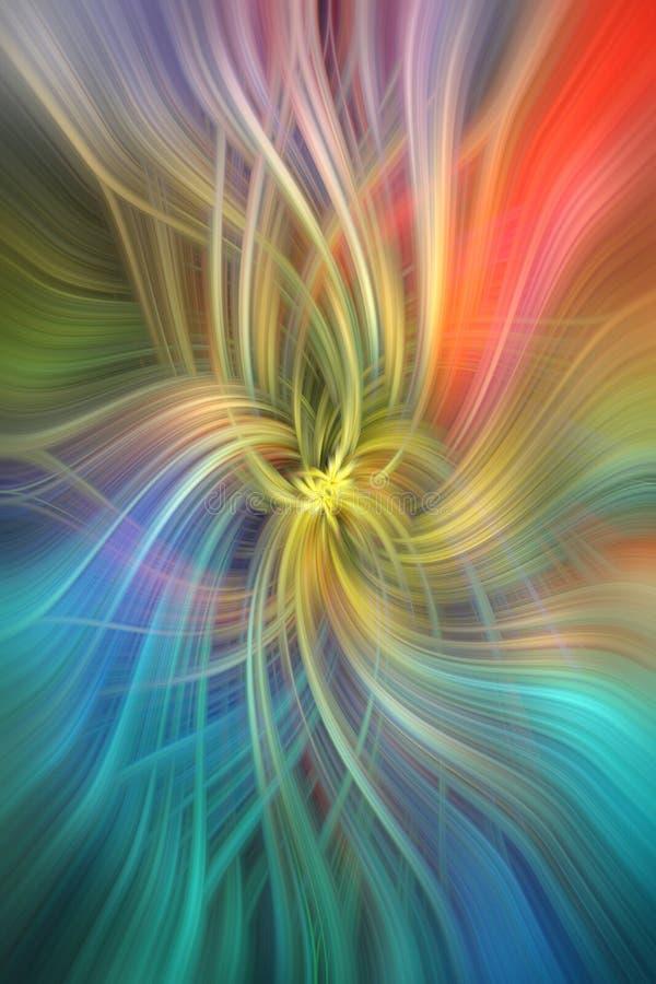 Regenboog gekleurde abstracte patronen Conceptenintelligentie stock illustratie