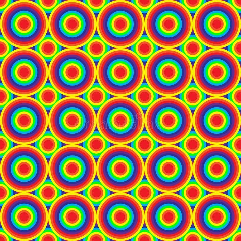 Regenboog Gekleurde Cirkels stock illustratie