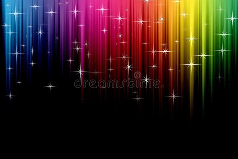 Regenboog gekleurde lichte achtergrond royalty-vrije illustratie