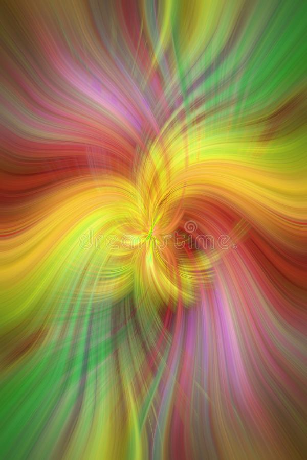 Regenboog gekleurde samenvatting Concept Alliance zon en aarde vector illustratie