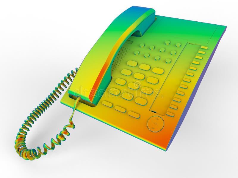 Regenboog gekleurde telefoon vector illustratie