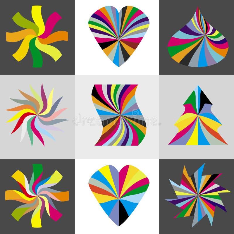 Regenboog, hart en sterren royalty-vrije illustratie