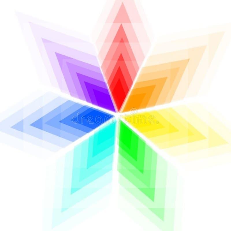 Regenboog hexagon bloemenontwerp stock illustratie
