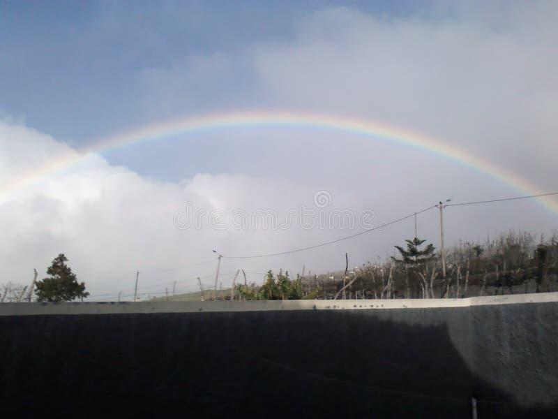 Regenboog in Madera royalty-vrije stock afbeeldingen