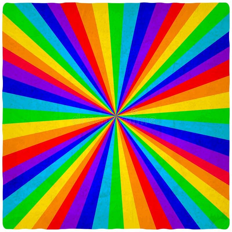 Download Regenboog oude achtergrond vector illustratie. Illustratie bestaande uit groen - 39106045