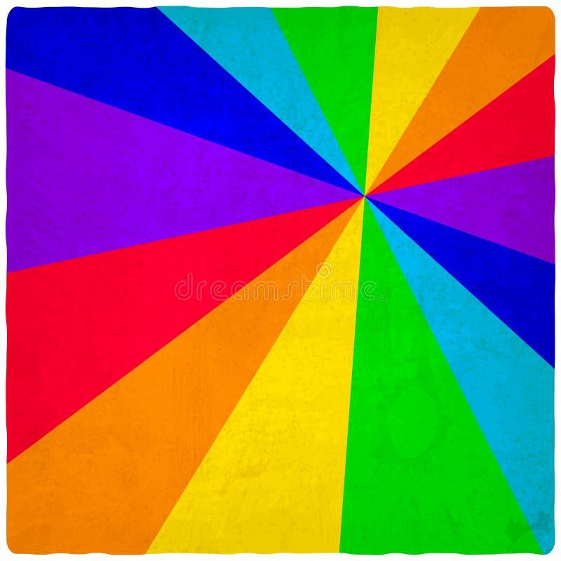 Download Regenboog oude achtergrond vector illustratie. Illustratie bestaande uit kleurrijk - 39106087