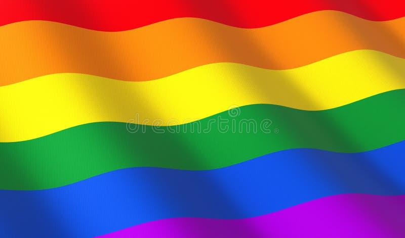 Regenboog slechts vlag royalty-vrije illustratie