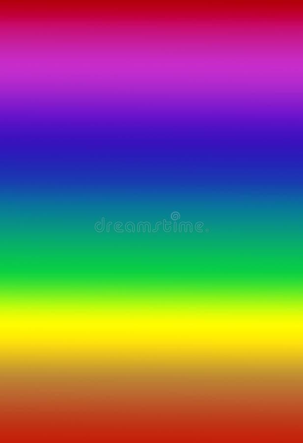 Regenboog spectrale gradiënt royalty-vrije illustratie