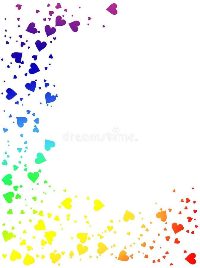 Regenboog van harten vector illustratie