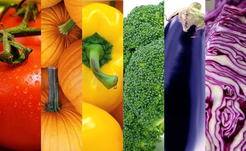 Regenboog Veggies stock fotografie