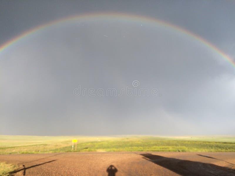 Regenboog in Wyoming royalty-vrije stock fotografie