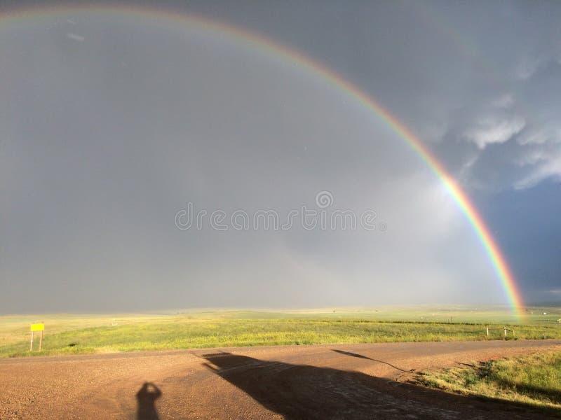 Regenboog in Wyoming royalty-vrije stock foto's