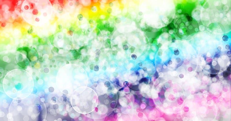 Regenboog zeven kleurt achtergrond vector illustratie