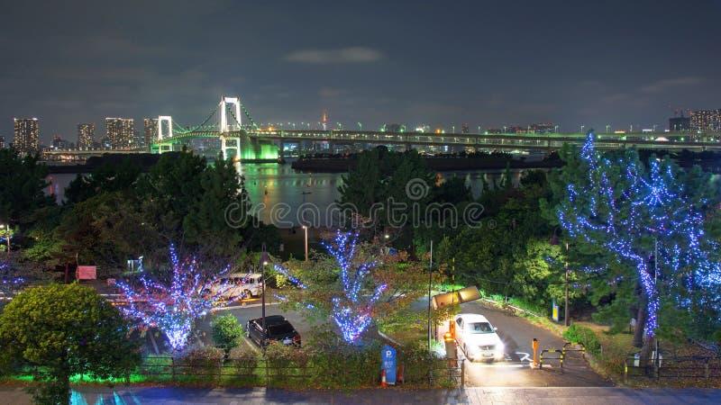 regenboogbrug, en de toren van Tokyo, Japan royalty-vrije stock fotografie