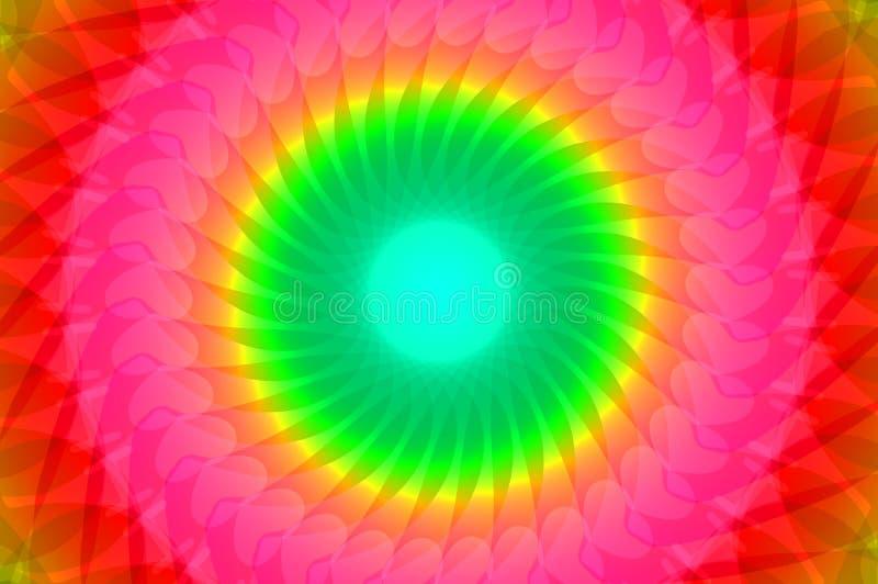 Regenboogcaleidoscoop royalty-vrije illustratie