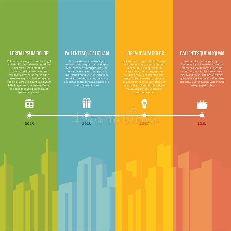 Regenboogchronologie stock illustratie