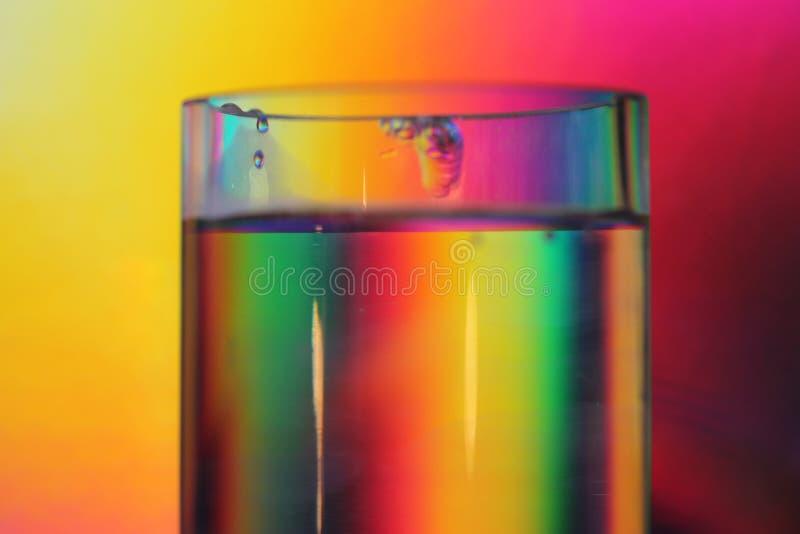 Regenboogglas royalty-vrije stock afbeelding