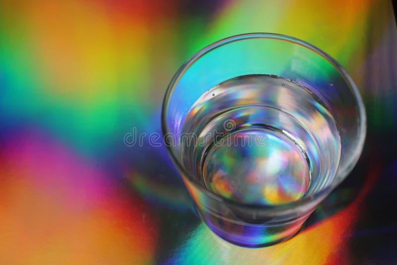 Regenboogglas van hierboven stock afbeeldingen