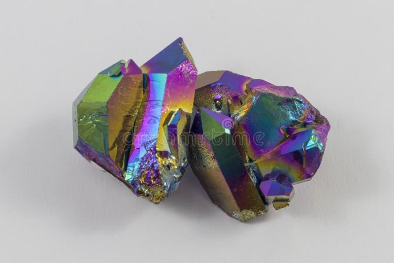 Regenboogtitanium Aura Pair stock afbeelding