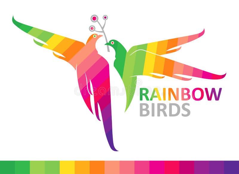 Regenboogvogels. vector illustratie