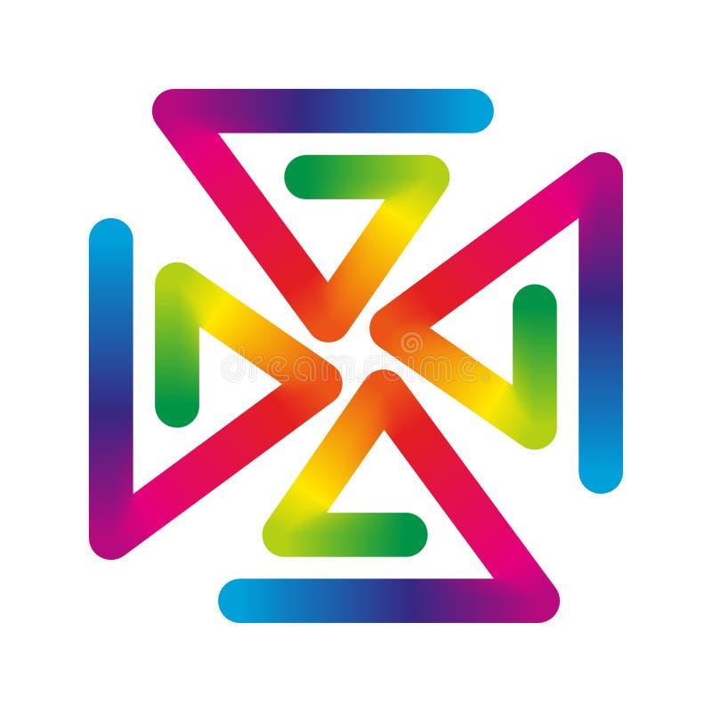 Regenboogvuurrad stock illustratie