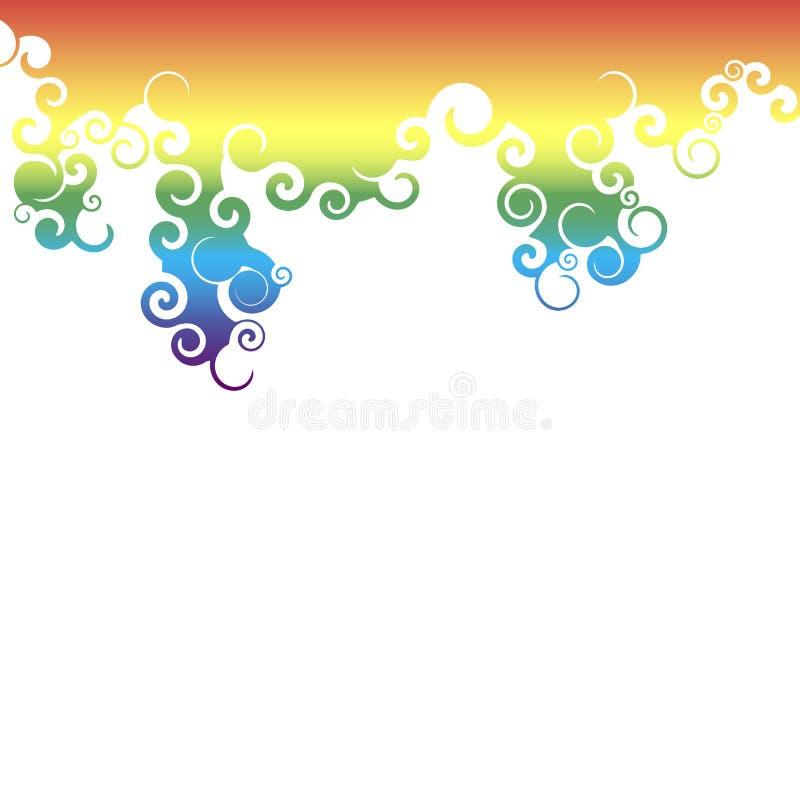 Regenboogwervelingen stock illustratie