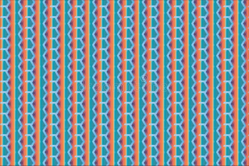 Regenboogzeshoek vector illustratie