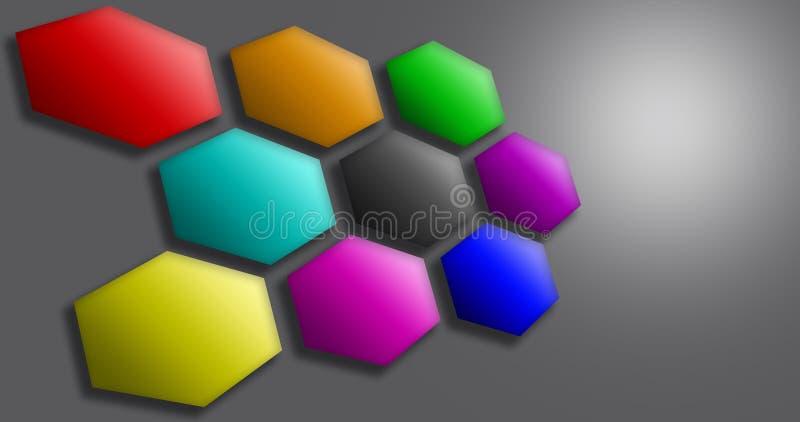 Regenboogzeshoek royalty-vrije illustratie