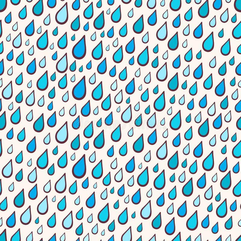 Regendruppels stock illustratie