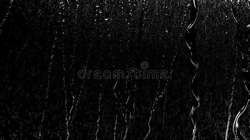 Regendruppels van Stroomversnelling op Glas royalty-vrije stock afbeelding