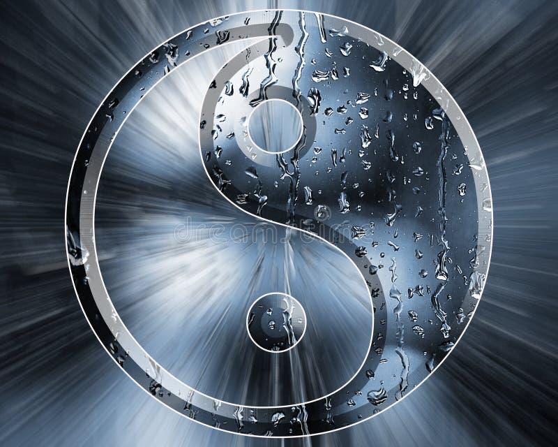 Regendruppels Yin Yang royalty-vrije stock afbeeldingen