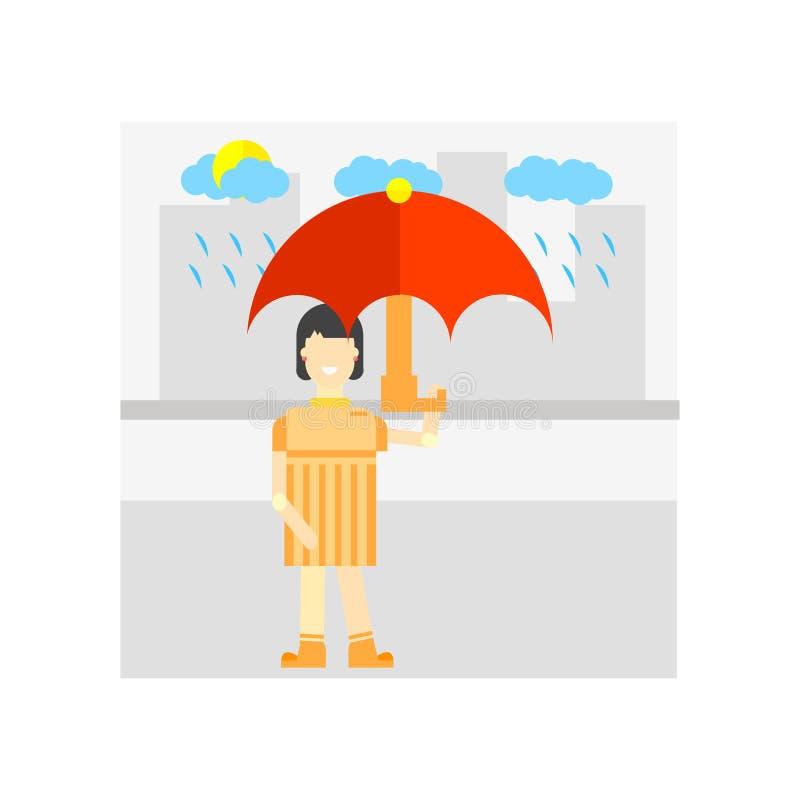 Regenend pictogram vectordieteken en symbool op witte achtergrond, Regenend embleemconcept wordt geïsoleerd stock illustratie
