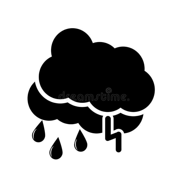 Regenend pictogram vectordieteken en symbool op witte achtergrond, Regenend embleemconcept wordt geïsoleerd royalty-vrije illustratie