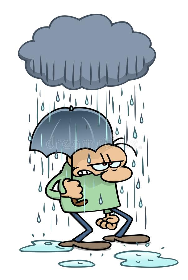 Regenende katten en honden vector illustratie