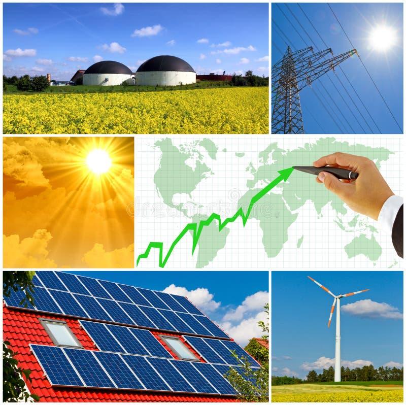 Regeneratieve energie stock foto's