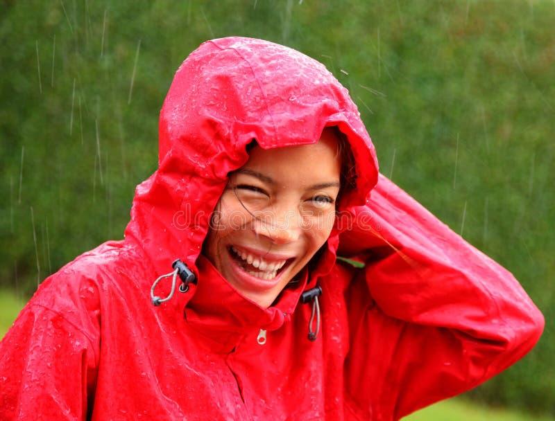 Regenfrau lizenzfreie stockfotografie