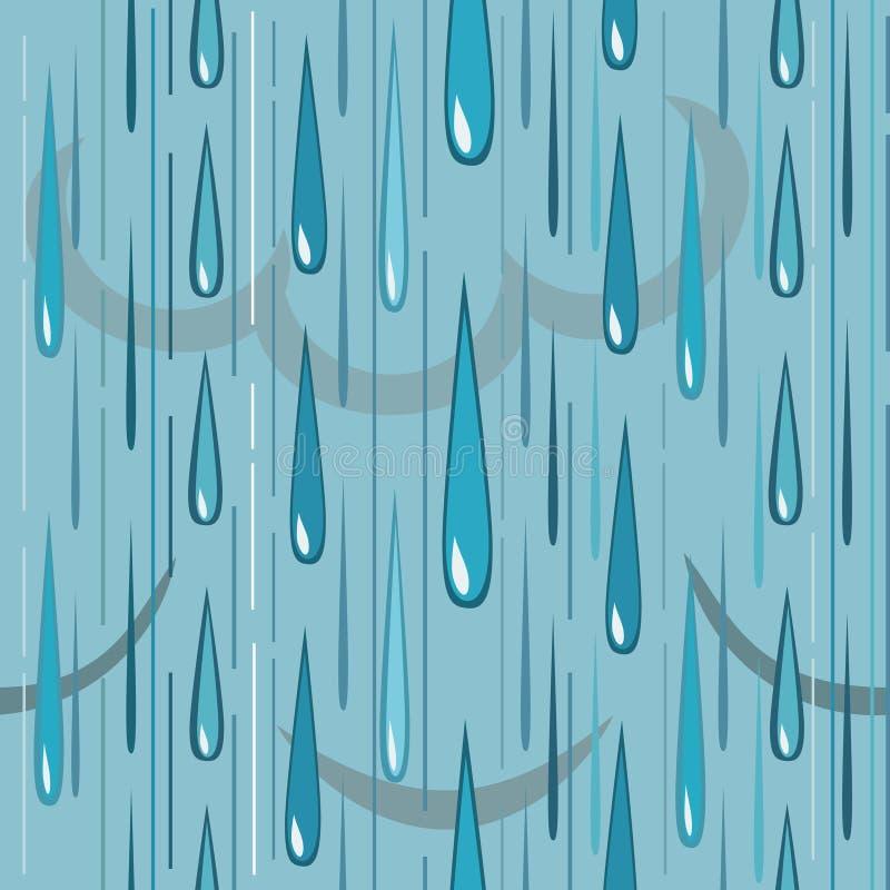 Regenpatroon stock illustratie