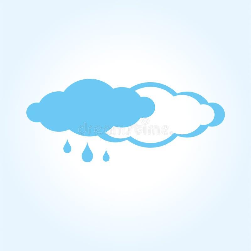 Regenpictogram Abstract vlak regenachtig weervenster royalty-vrije illustratie