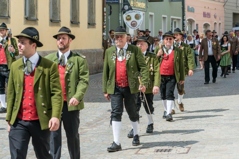 Regensburg, Alemania, el AMI 10, 2018, procesión de Maidult en Regensburg, Alemania foto de archivo