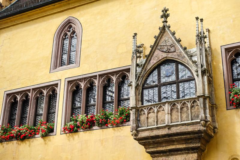 Regensburg, Deutschland - Juli, 09 2016: Ansicht von alten Rathaus lizenzfreies stockfoto
