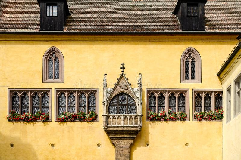 Regensburg, Germany - July, 09 2016: View of The Old Town Hall in a sunny day royalty free stock photos