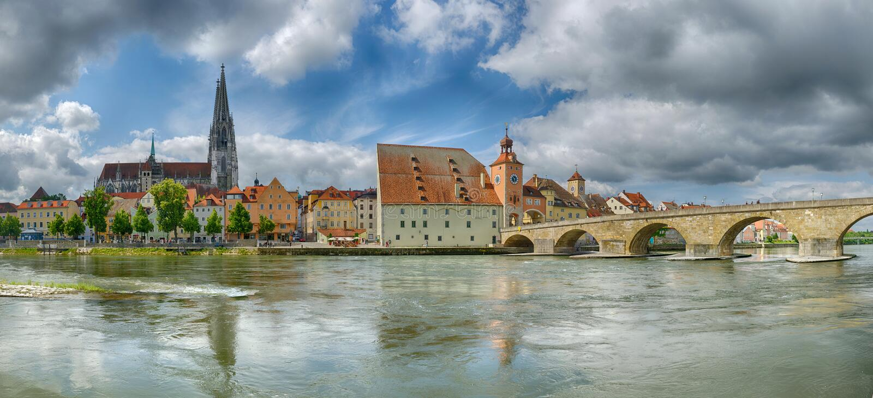 Regensburg (Niemcy) fotografia royalty free