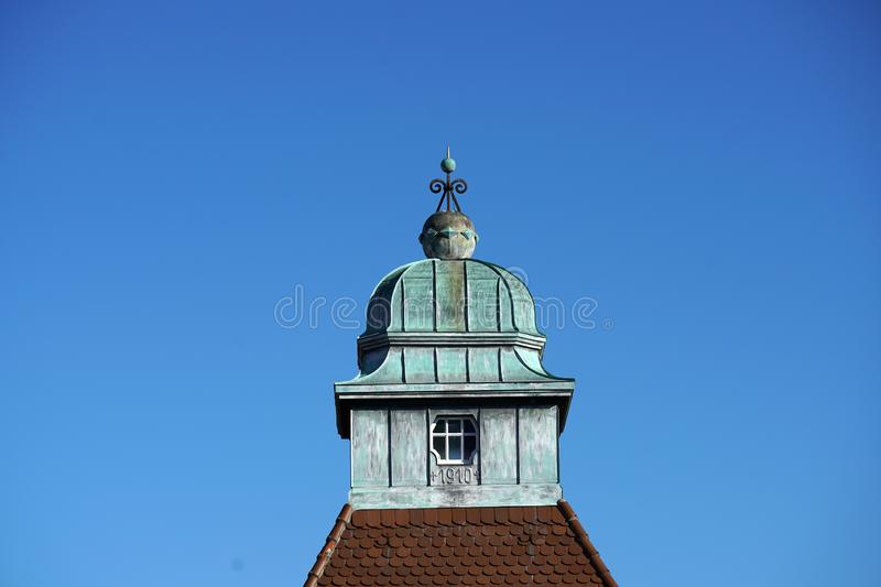 In Regensburg, old churches and St. Peter`s Cathedral. Photograph in the sunshine in the spring royalty free stock photo