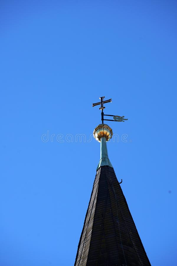 In Regensburg, old churches and St. Peter`s Cathedral. Photograph in the sunshine in the spring royalty free stock images
